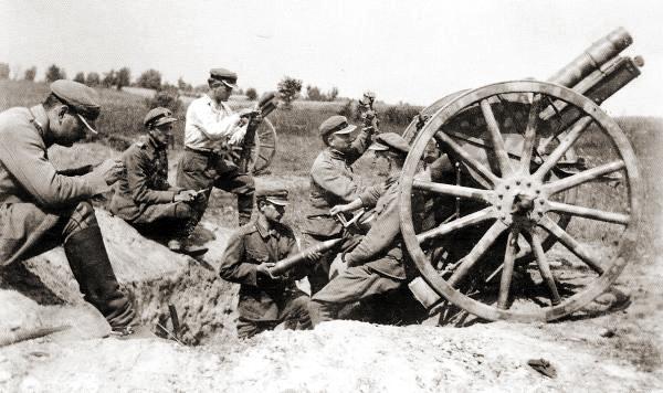 Armata 77 mm wz.96 podczas działań wojennych wojny polsko-bolszewickiej 1920 r.