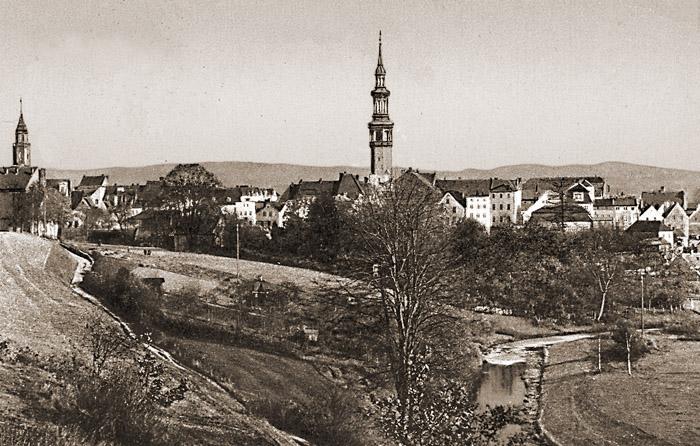 Panorama Gryfowa około 1910 r.