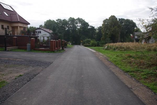Odbudowana tzw. Droga Kościelna - Siekierczyn