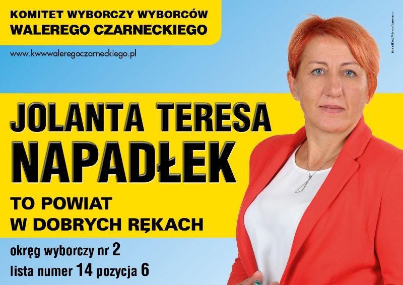 Wybory Samorządowe 2018 Jolanta Napadłek Kandydatka Na